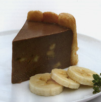 Chocolate and Banana mousse cake