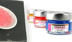 Perles de saveur pour cuisine moléculaire
