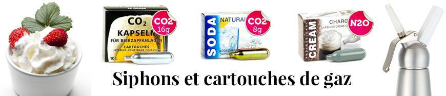 Siphon cartouche CO2 et N2O