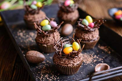 Dessert au chocolat de Pâques