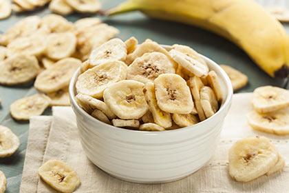 Chips de bananes maison