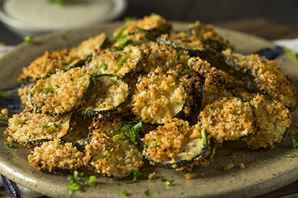 Chips de courgettes maison