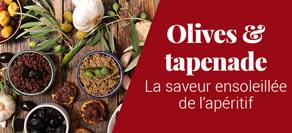 Olives et tapenade pour l'apéritif