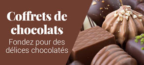 Coffrets, boîtes et ballotins de chocolats
