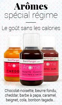 Arômes alimentaires spécial régime