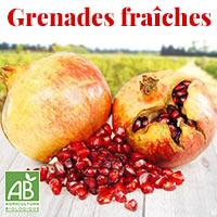 Grenades fraîches bio