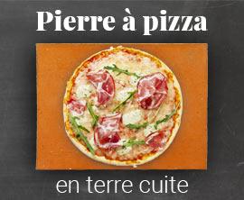 Pierre a pizza en terre cuite pour four