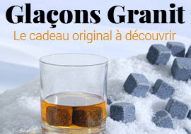 Pierres a whisky glaçons granit