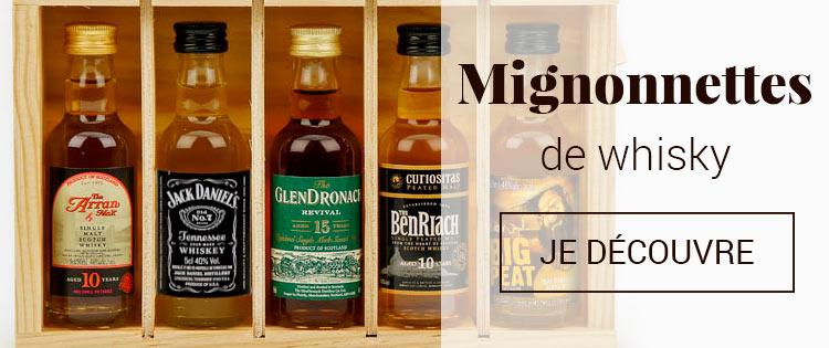 Mignonnettes de whisky