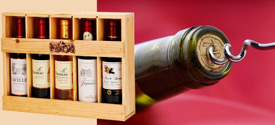 Coffret de vin prêts à offrir