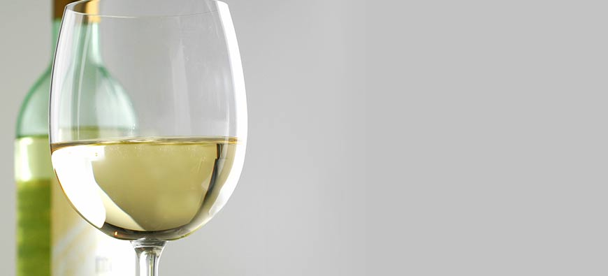 Bouteilles de vin blanc