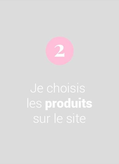 Je choisis les produits sur le site