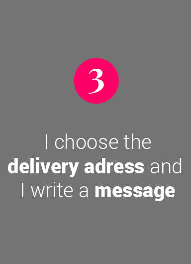 I choose the delivery adress and I write a message
