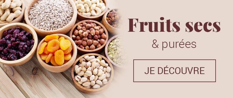 Fruits secs et purées bio