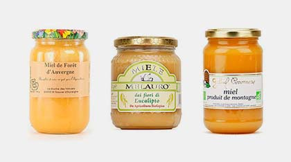 Assortiment de miels bio