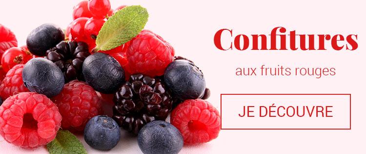Confitures aux fruits rouges