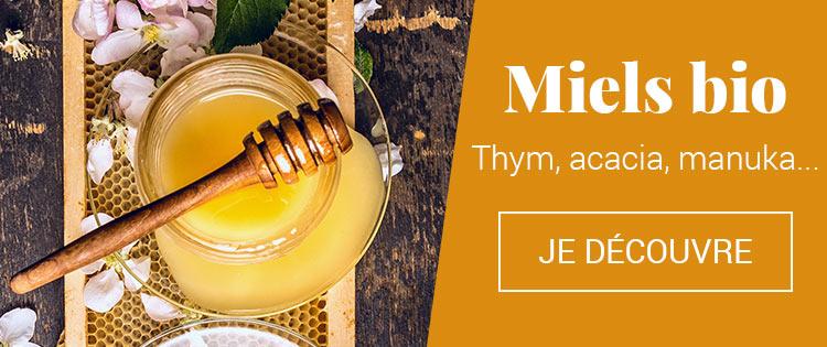 Miels bio : manuka, thym, acacia...
