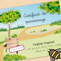 Certificat de parrainage de ruches