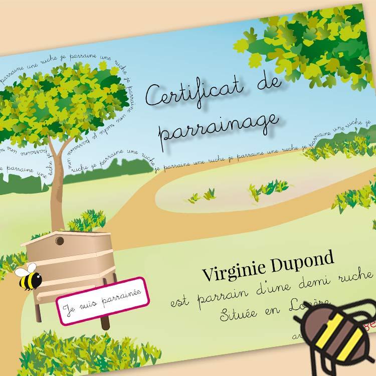 Sponsorship certificate