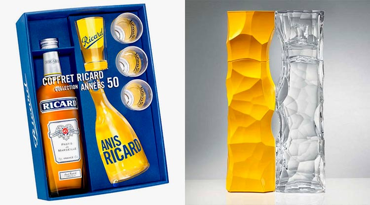Bottles and cases of Ricard
